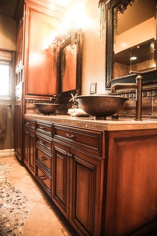 Elegant Bathroom Cabinets and Sink
